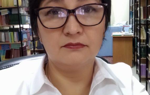 "Ахметова Саягуль Тлеубековна<br><p class=""thm-profile-sub-title sub"">Заведующая библиотекой<p/>"